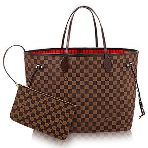 Louis Vuitton Damier Ebene Canvas Neverfull GM N41357