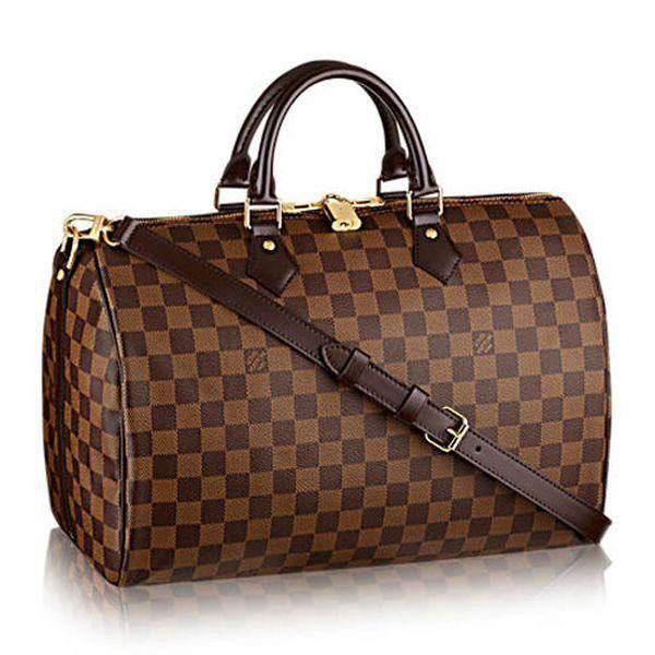 Louis Vuitton Damier Ebene Canvas Speedy Bandouliere 35 N41366