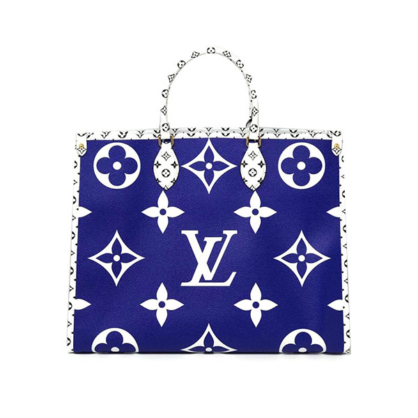 Louis Vuitton Monogram Giant Onthego Capri Blue Coated Canvas Tote