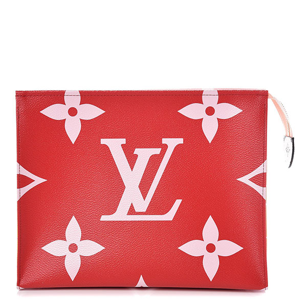 Louis Vuitton Monogram Giant Toiletry Pouch 26 Rouge