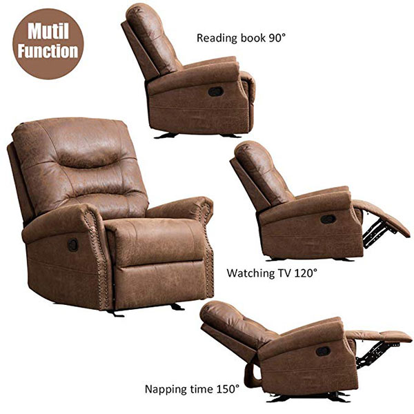 CANMOV Leather Rocker Recliner Chair